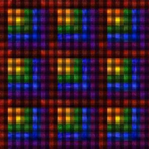 Rainbow Plaid Quilt