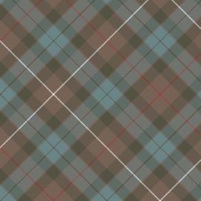 """Fraser hunting tartan, 6"""" diagonal weathered"""