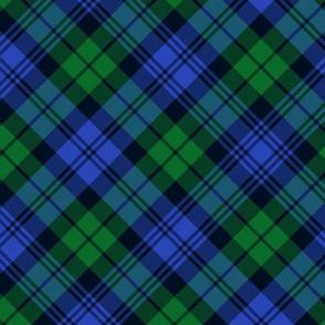 "Campbell tartan, 6"" diagonal, modern colors"