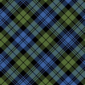 "Campbell tartan, 6"" diagonal, muted colors"
