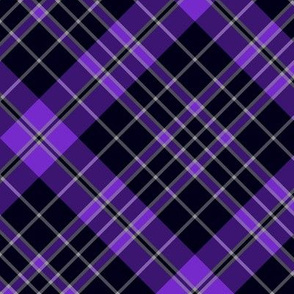 "Priest/Clergy tartan, 6"" diagonal, violet"
