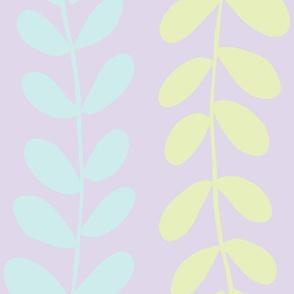 Olive Branches (lt. aqua, lt. lime & lilac)