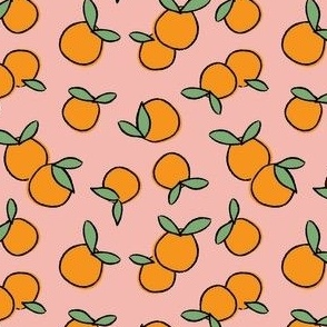Oranges on Pink - Small Scale