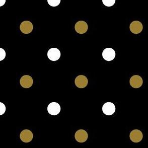 Black and Gold Polka Dot 2