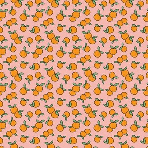 Oranges on Pink - Tiny Scale
