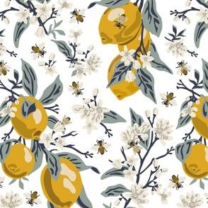 Bees & Lemons - Large - White