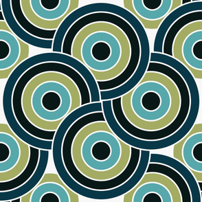 Circles in Hawaiian Coastal Blue and Green