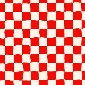 Roller Rink Checkerboard - Red