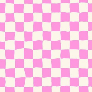 Roller Rink Checkerboard - Pink