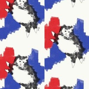 Red, White, Blue Kitty ExSmall