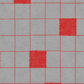Red Lines on felt