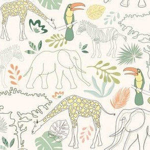 Safari contour lines
