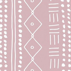 Minimal mudcloth bohemian mayan abstract indian summer love aztec design dusty pink rotated JUMBO