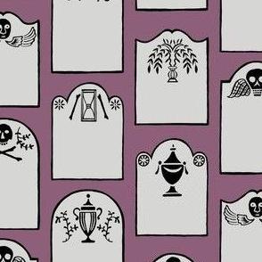 tombstones - plum