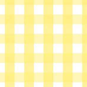 gingham 2in lemon yellow