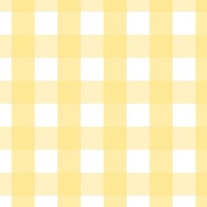 gingham 2in sunshine yellow