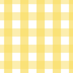 gingham 2in butter yellow