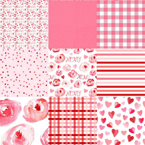 forever love valentines day cheater quilt