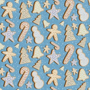 Christmas Cookies in Light Blue