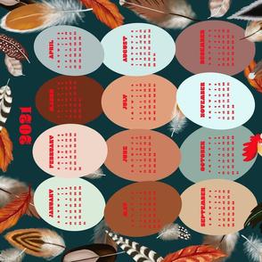 Farm Fresh Eggs 2021 tea towel calendar