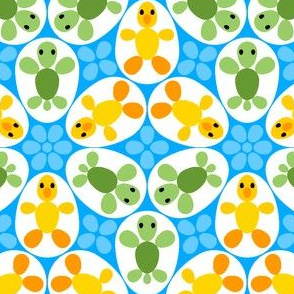 01086438 © R6 eggs - duckling + turtle