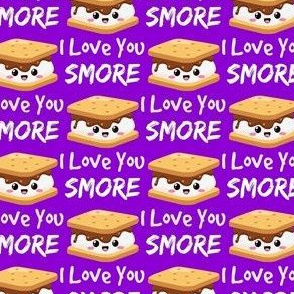 love you smores purple
