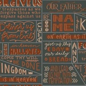 Our Father Prayer on Gray