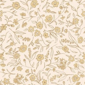 Ditsy Buttercup Floral - yellow