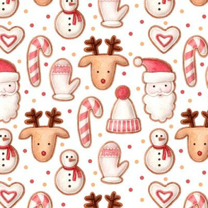 christmas gingerbread and confetti