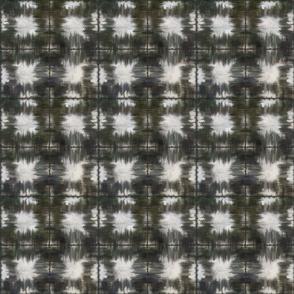 Shibori Squares Geometric warm charcoal