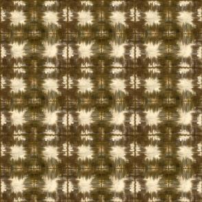 Shibori Squares Geometric golden brown