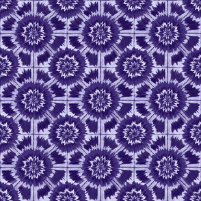 Shibori Kaleidoscopic blue-violet