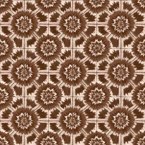 Shibori Kaleidoscopic cocoa