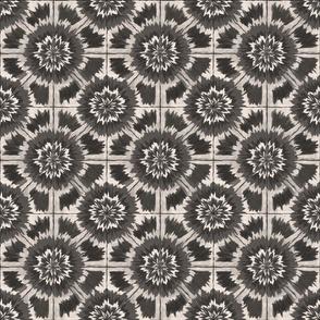 Shibori Kaleidoscopic sepia