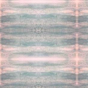 Pastel Pink & Aqua Watercolor Stripe