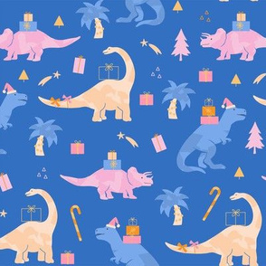 Holiday Dinos in Blue