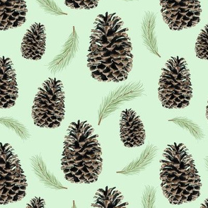 pine cones and needles - spearmint
