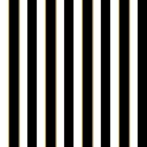 Black and White 'Sleepy' 1/2 inch striped Fabric
