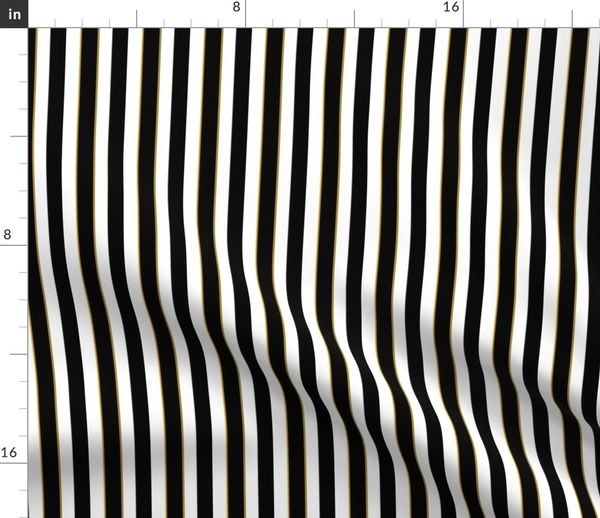 Black And White Sleepy 12 Inch Stripe Spoonflower
