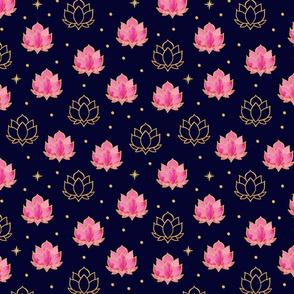 Diwali Lotus Night