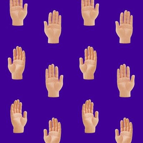 Hands Purple