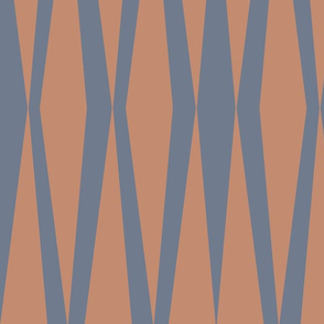 Abstract Slate Sienna Triangles