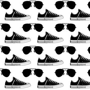 Biden Harris Sneakers & Aviators B&W