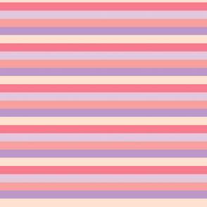 Lavender and Pink Valentines Stripe