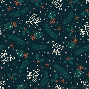 Kiss Me | Mistletoe | Navy