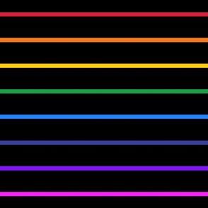 Narrow rainbow stripe on black horizontal (small)
