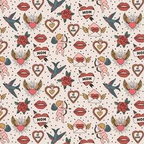 Vintage Valentines - red mini