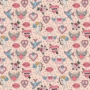 Vintage Valentines - pink mini