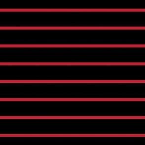Black with narrow red stripe - horizontal (small)