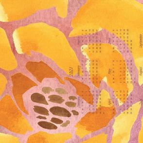 Floral Sorbet 2021 Tea Towel Calendar